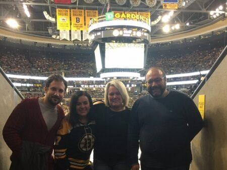 Bruins-Night-with-Harry-Nicola-Karen-and-her-daugher-Ashley-10-2016-1
